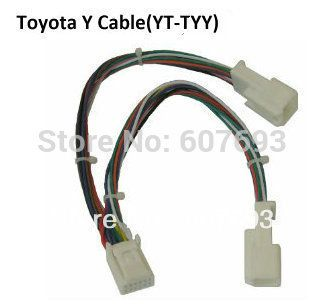 Y Cable Splitter Adapter 6+6 Plug for Audio Navi AUX CDC Tuning for Toyota Lexus