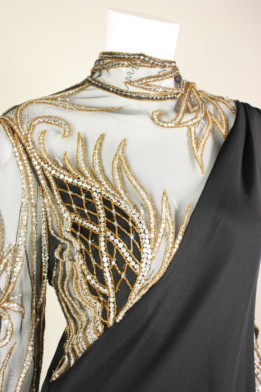 Bob Mackie Beaded Asymmetrical Gown | Bob Mackie | Pinterest | Bob ...