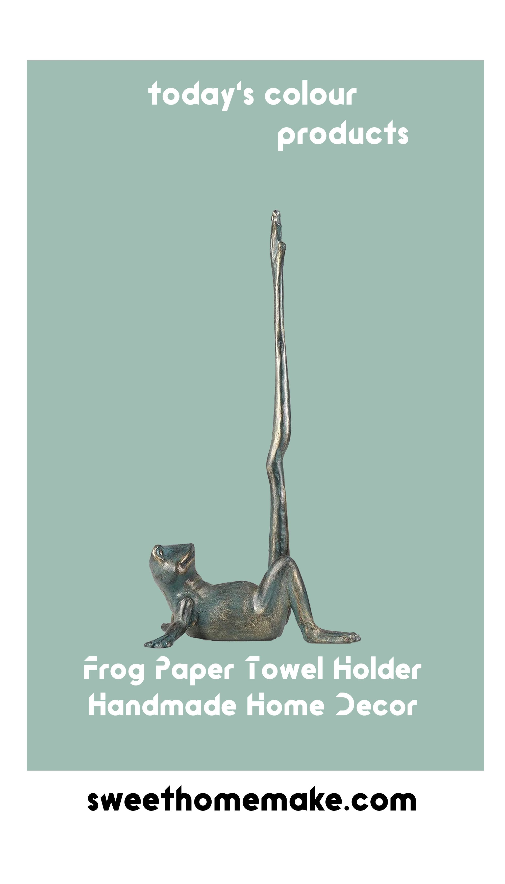 Frog Free Standing Paper Towel Holder For Kitchen Toilet Bathroom Desk Paper Towel Holder Towel Holder Frog Bathroom