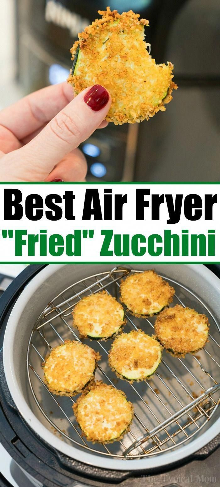 The Best Air Fryer Zucchini Chips!