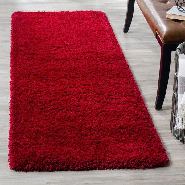 Safavieh California Cozy Plush Red Shag Rug 53 Liked On Polyvore Featuring Home Rugs Red Shag Rugs Polypropylene Red Shag Rug Solid Rugs Cozy Shag Rug