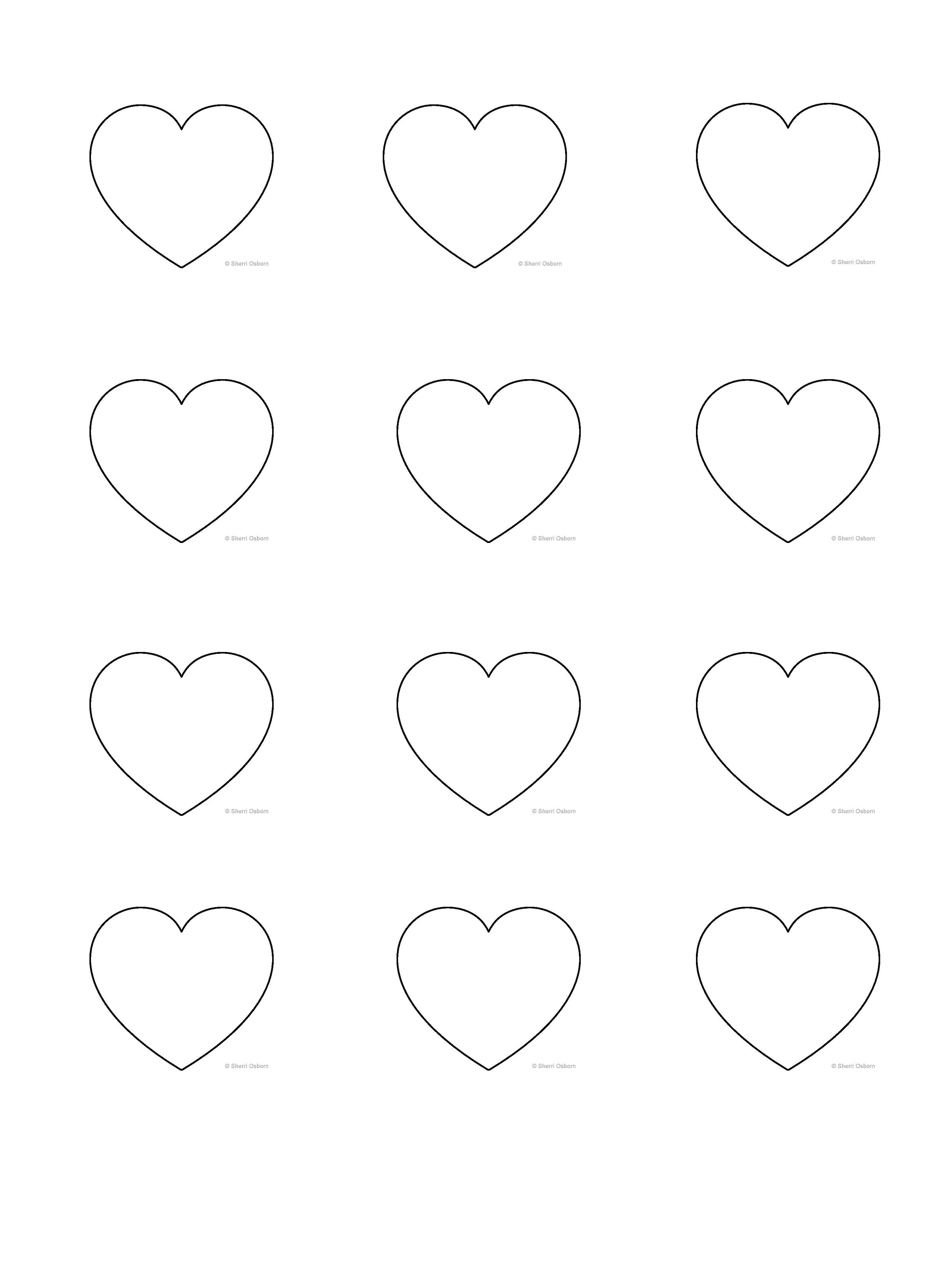Heart Shape Template 3 8cm