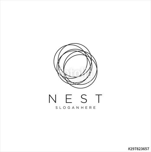 Vector Bird Nest Logo Design Template Nest Logo Logo Design Template Logo Design
