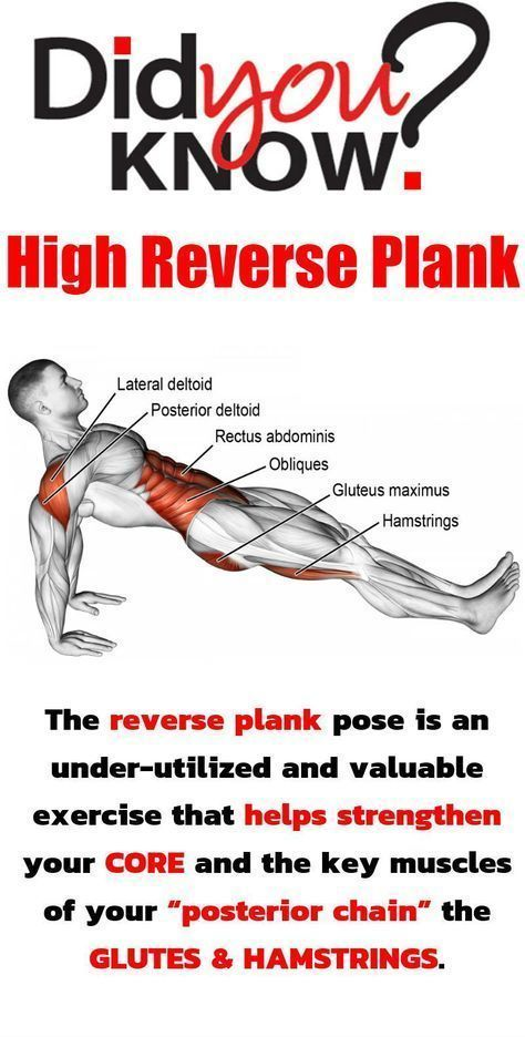 Reverse Plank! The best glider exercise to use in a core and full body workout. #planks #workout #fitness #goodcoreexercises