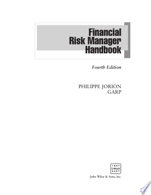 financial risk manager handbook by philippe jorion free download