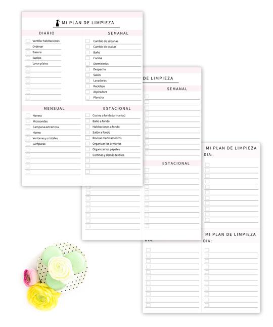 Organizar las tareas del hogar imprimibles la limpieza - Organizar limpieza casa ...