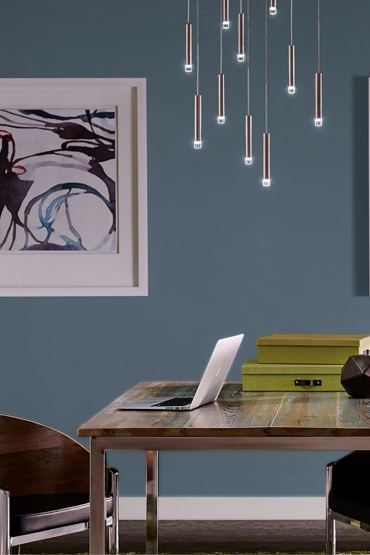Small Powerful And Versatile The Slim Metal Body Of The Moxy Pendant Light From Tech Lighting Is Accented Modern Lamp Lamp Inspiration Modern Office Lighting