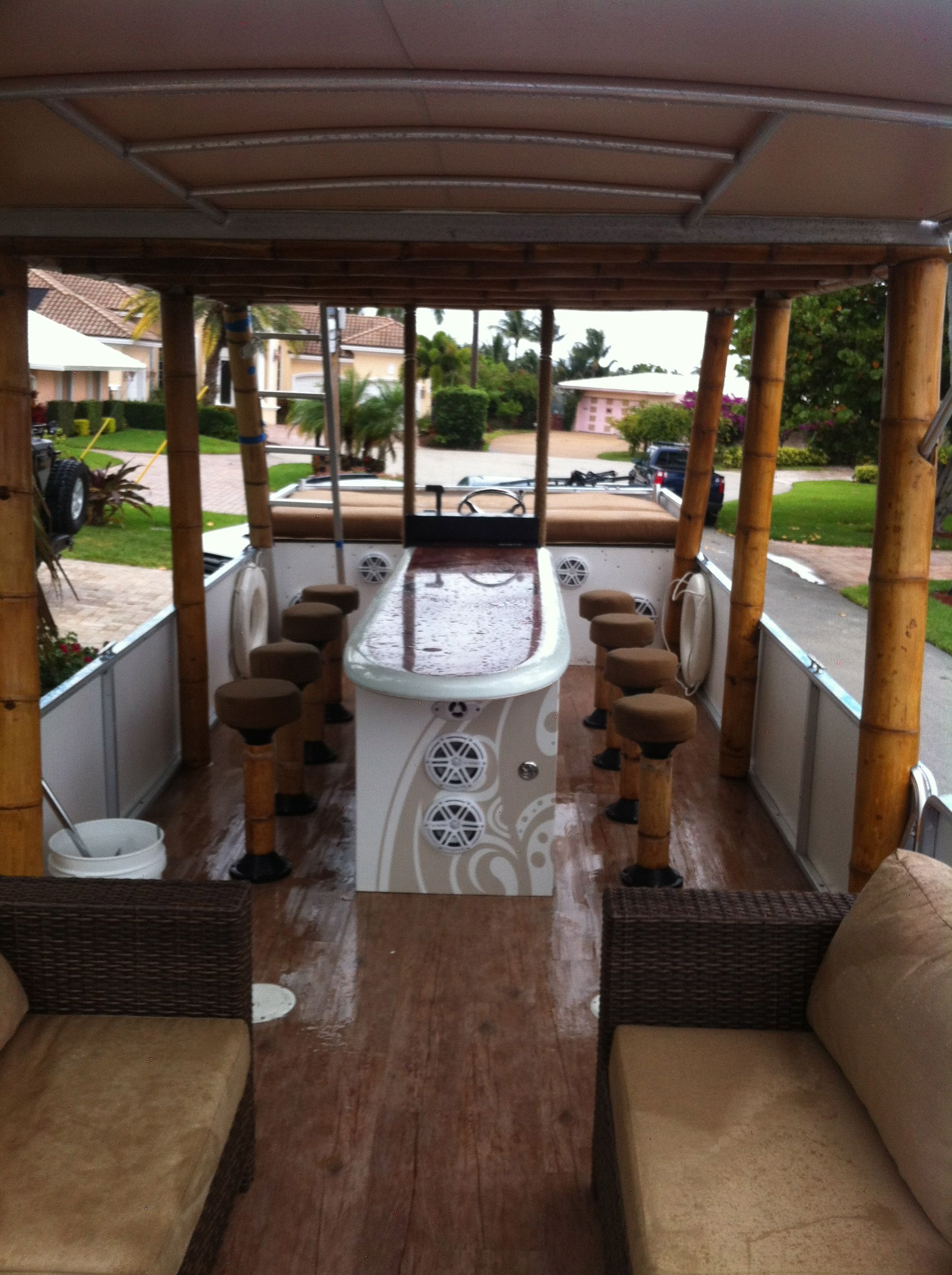 Dock Furniture Ideas 2012 Poontoon Party Barge The Hull Truth Boating And