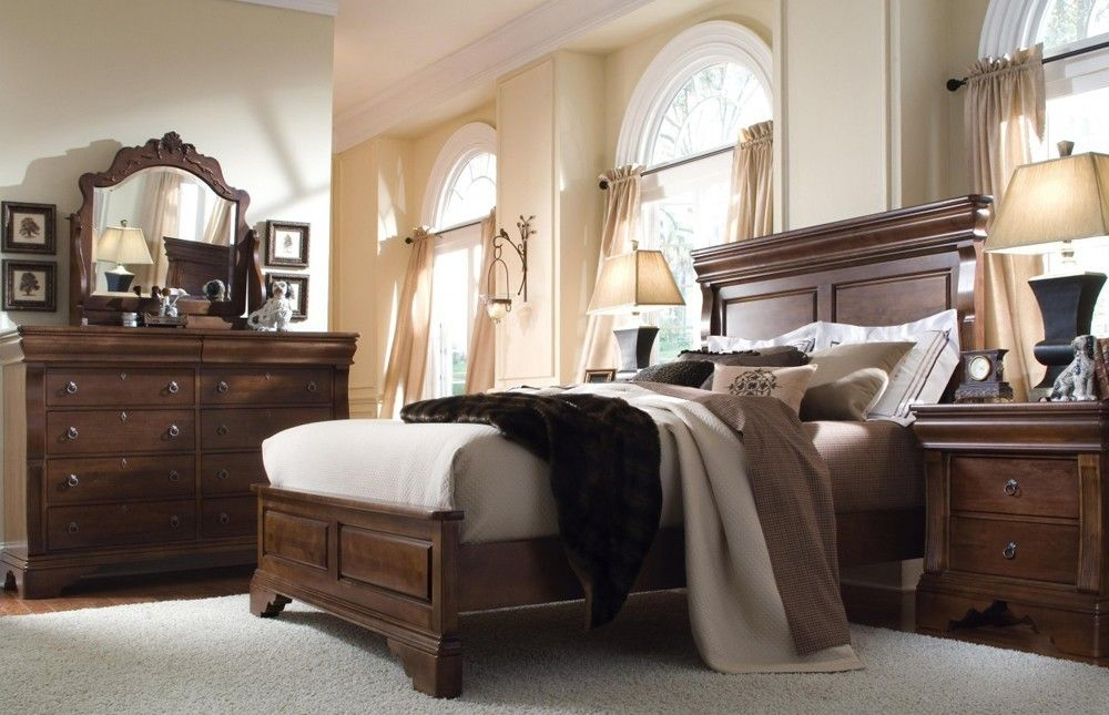 Solid Wood Bedroom Furniture | Ashley wood furniture | Wood bedroom ...