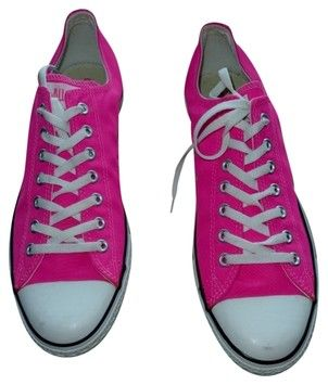 93c107bf9703 Converse Taylor Low Tops Canvas Hot Mens 13 Womens 15 Pink Athletic Shoes