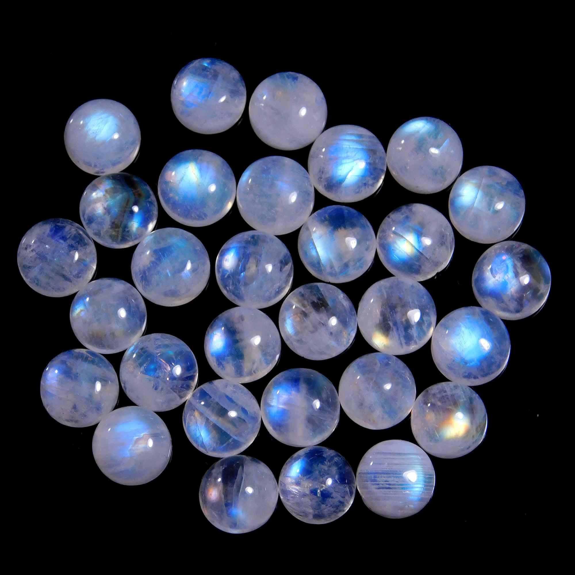 Rainbow Moonstone Natural Cabochon Semi Precious Loose Jewelry Making Gemstone