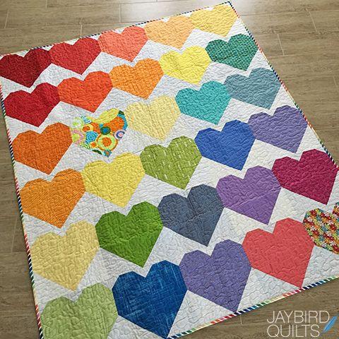 Quilts For Pulse Jaybird Quilts Rainbow Quilt Heart Quilt