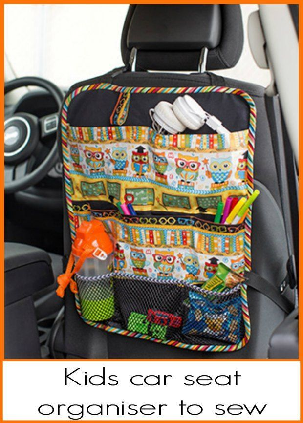 Free Sewing Pattern For A Kids Car Seat Organiser Stop The Mess Hide Stuff