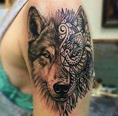 tribal wolf tattoo design 2017 with pattern tattoo s pinterest rh pinterest co uk wolf face tattoo tumblr wolf face tattoo on leg