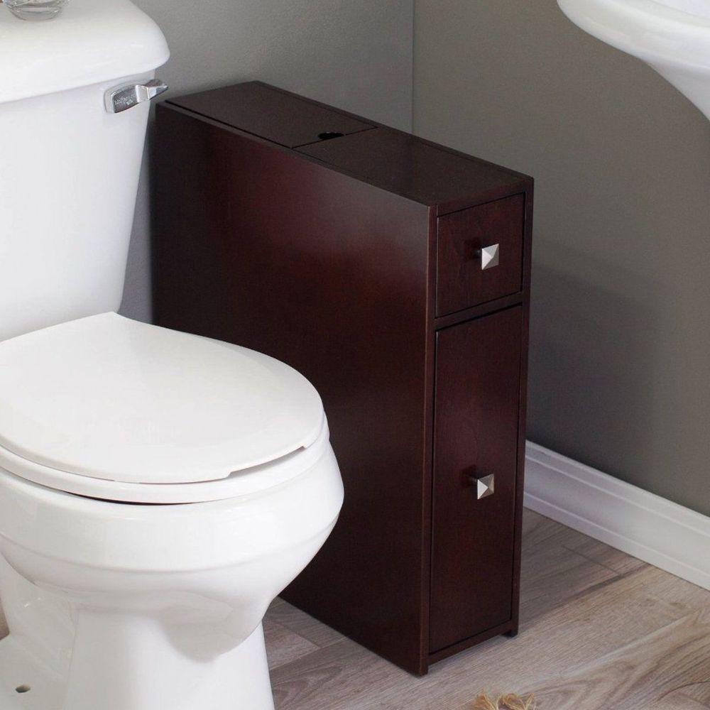 Bathroom Storage Floor Standing Narrow Cupboard