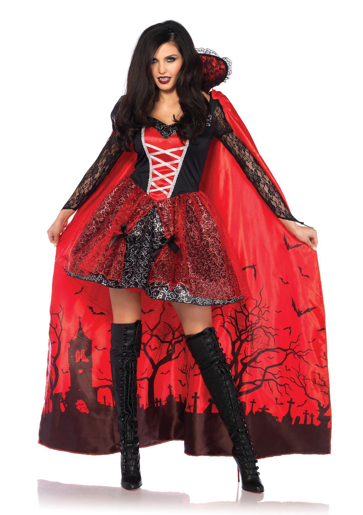 Women's blood thirsty vampire costume