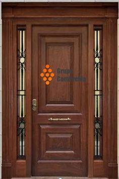 Image result for puertas modernas entrada hierro madera y for Puertas de entrada de madera modernas