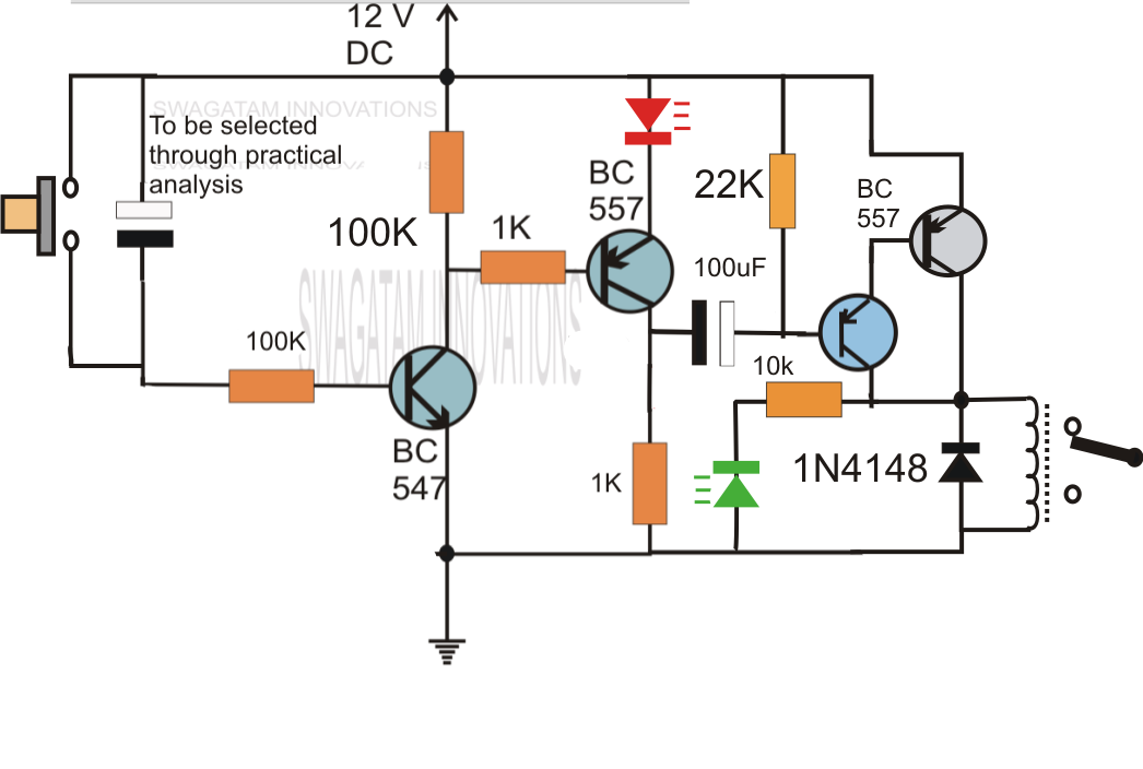 Switch On Delay Timer For Switch On Any Appliance After Some Delay Duration For Protection Circuit Diagram Timer Electronics Circuit