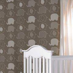 Cute Elephant Nursery Stencil 4dotandme2 Pinterest