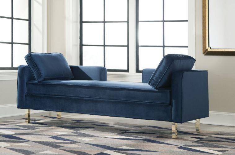 Blue sofa Chaise