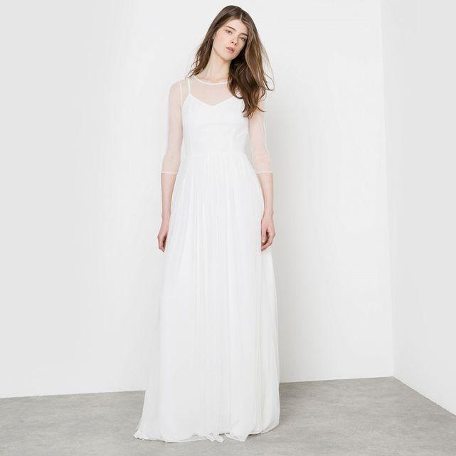 robe longue delphine manivet x la redoute madame mariage robes robe robe longue pour. Black Bedroom Furniture Sets. Home Design Ideas