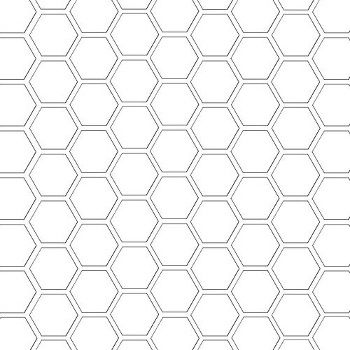 hexagon pattern template 12 and a half inch sq mel stampz   Paper size