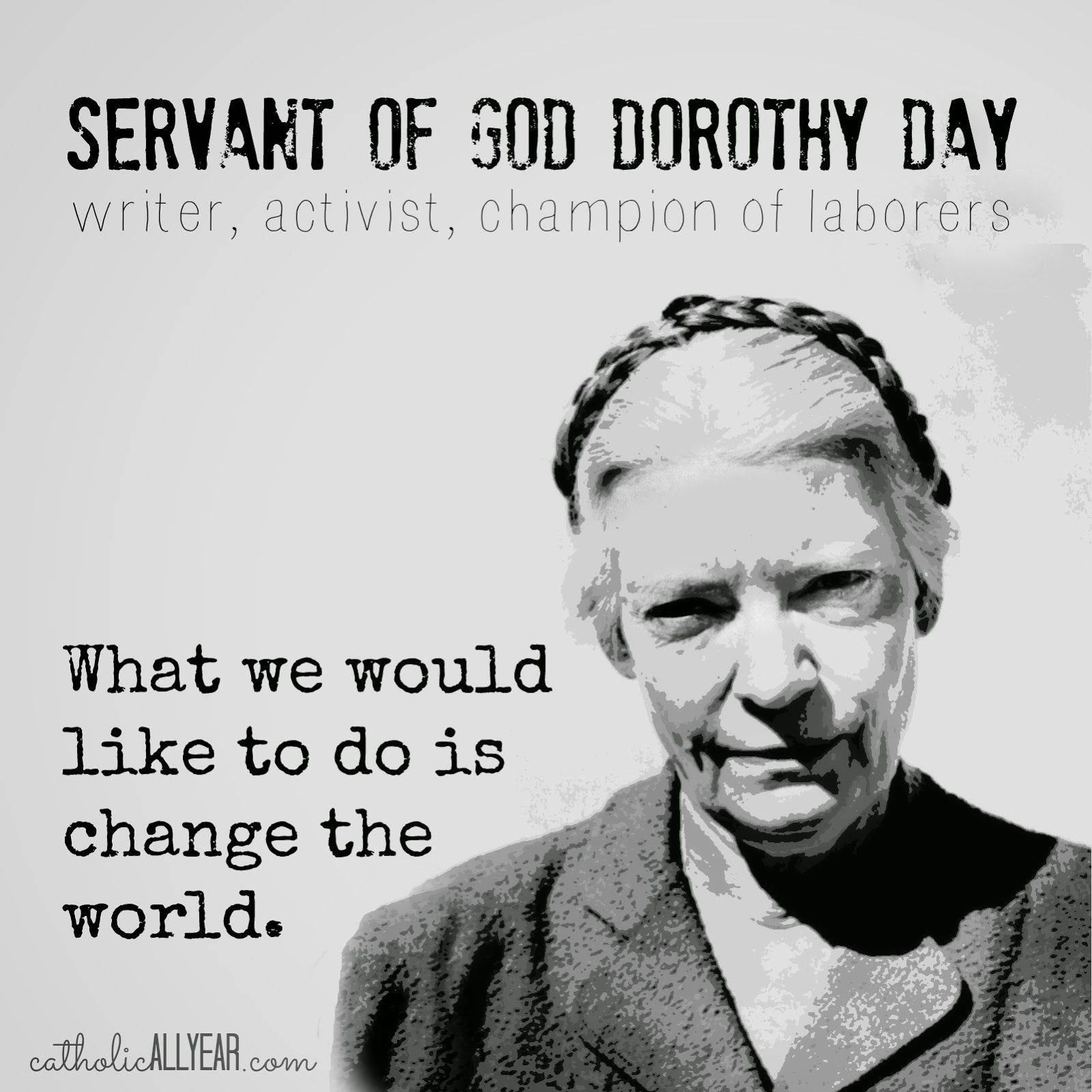 Catholic Quote Of The Day: Image Result For Dorothy Day Quotes