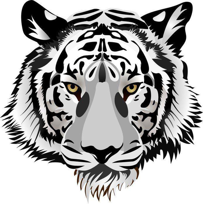 Tiger head vector pixerstick sticker ✓ easy installation ✓ 365 day money back guarantee ✓