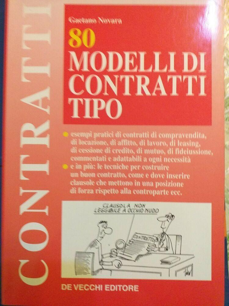 80 Modelli Di Contratto Tipo Brossura De Vecchi Editore