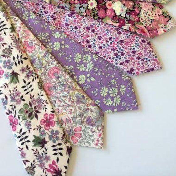 a1c85fc7c020 Custom Purple Wedding Ties, Liberty of London Necktie, purple groomsmen tie,  plum cotton ties, laven
