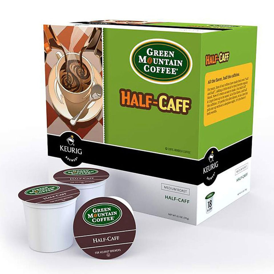 Half Caff Coffee 96 K Cups Sometimes You Want A Little Pick Me Up Late In The Day But You Don Green Mountain Coffee Green Mountain K Cups Coffee K Cups
