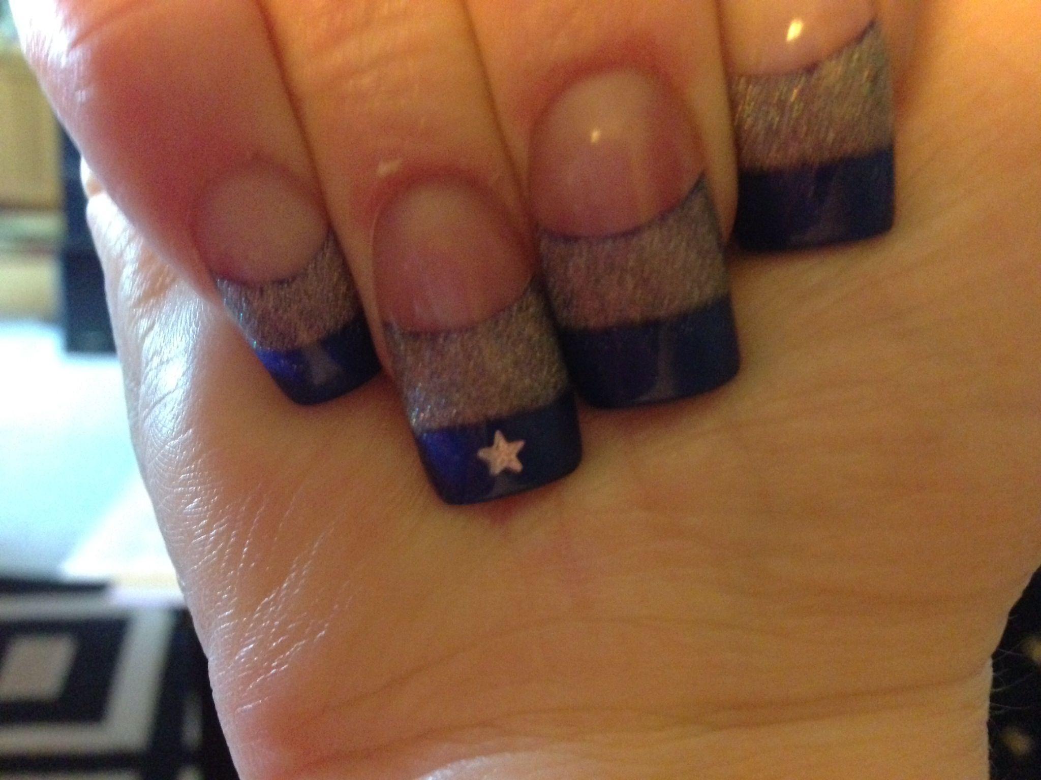 Dallas Cowboys nails   Nail designs   Pinterest   Dallas cowboys ...