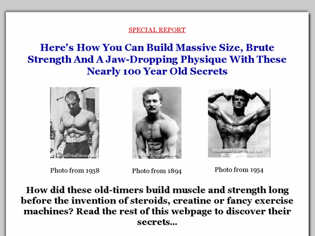 Tried & True Fitness Guide To Muscle & Might Review  Get Full Review : http://scamereviews.typepad.com/blog/2013/03/tried-true-fitness-guide-to-muscle-might-get-for-free.html