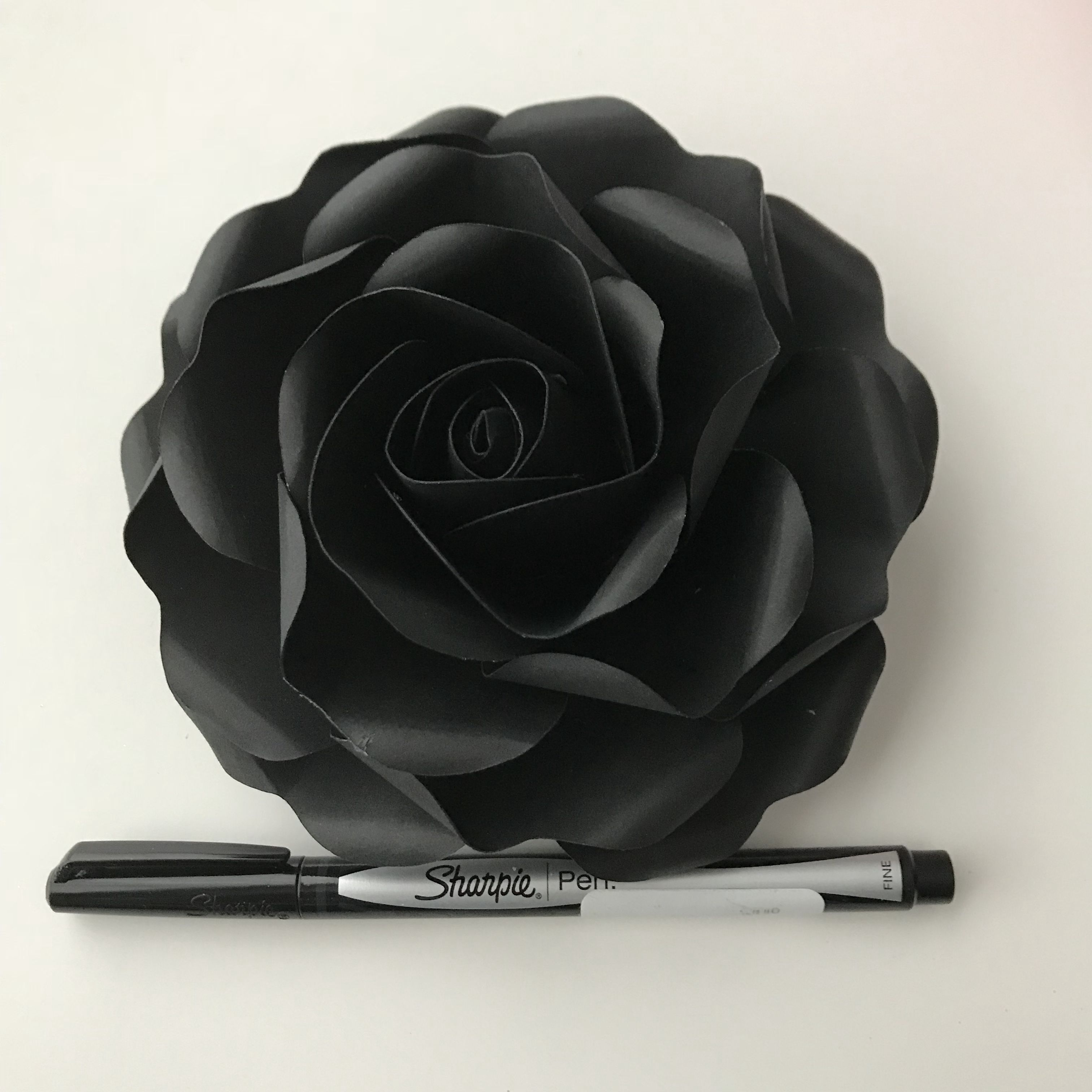 New Baby Rose Paper Flower Template From The Crafty Sagittarius