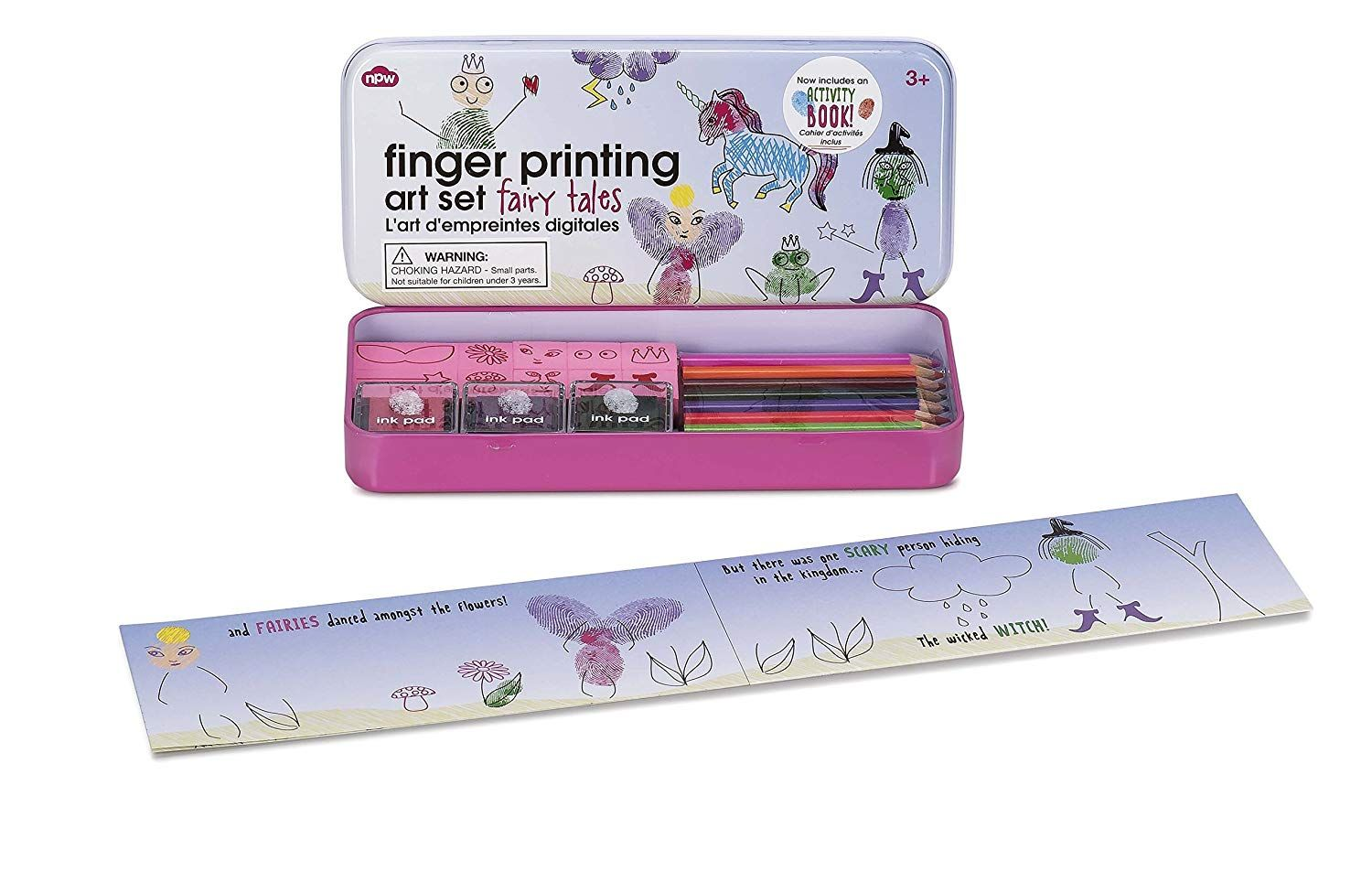 Npw Fairy Tale Finger Printing Set With Activity Book