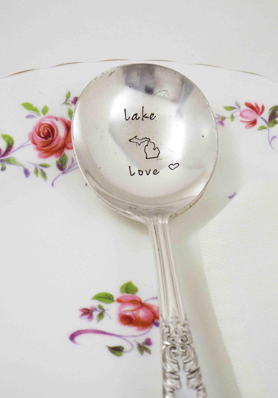 Michigan Made, Michigan Spoon, Michigan Soup Spoon, Great Lakes ...