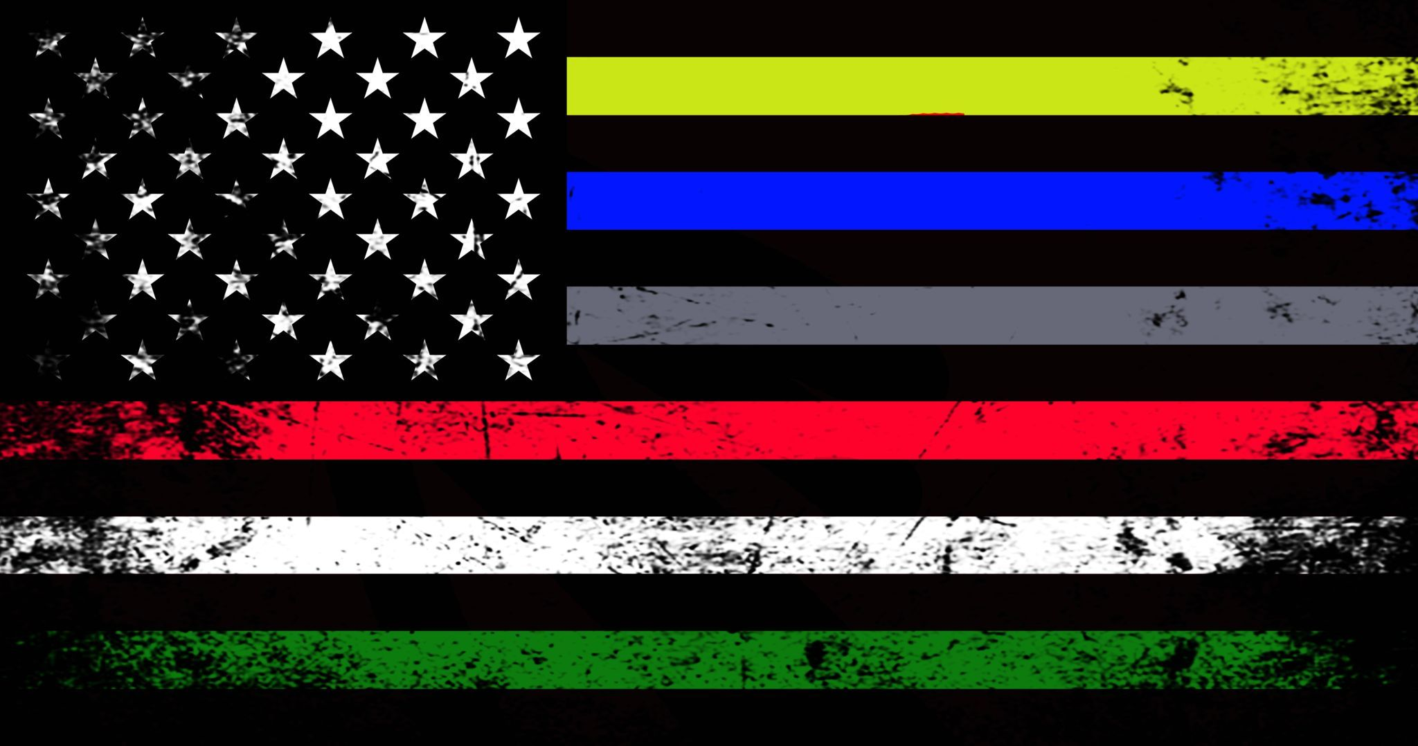 Emergency Services Support Flag Decal Flag Decal America Art Military Flag