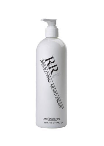 "R Lotion ICAB-16 IC PreGlove Antibacterial/Antimicrobial Lotion, 16 oz Bottle by R Lotion. $14.19. IC Pregloving germ killing hand lotion is enriched with Aloe Vera and Vitamins AD and E. This Antibacterial ""alcohol free"" moisturizer helps achieve healthier, softer, younger looking hand and nails. This ph neutral lotion relieves chapping, skin irritation and skin sensitivity caused by regular use of gloves. This Non-Petroleum, water-based hand lotion helps to prevent uticaria..."