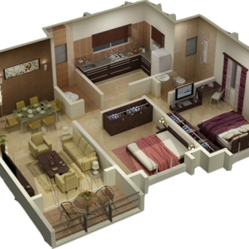 15 Denah Rumah 3 Kamar Minimalis 3d Terbaru 2020 Desain Rumah Kecil Tata Letak Rumah House Blueprints