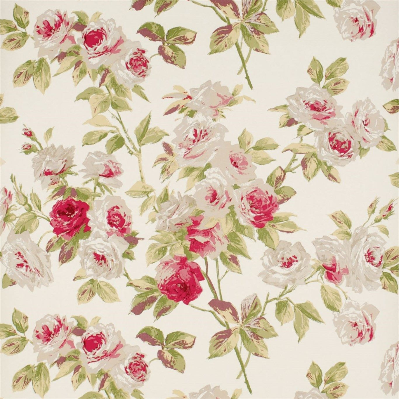 Eglantine Wallpaper With Images Vintage Flowers Wallpaper