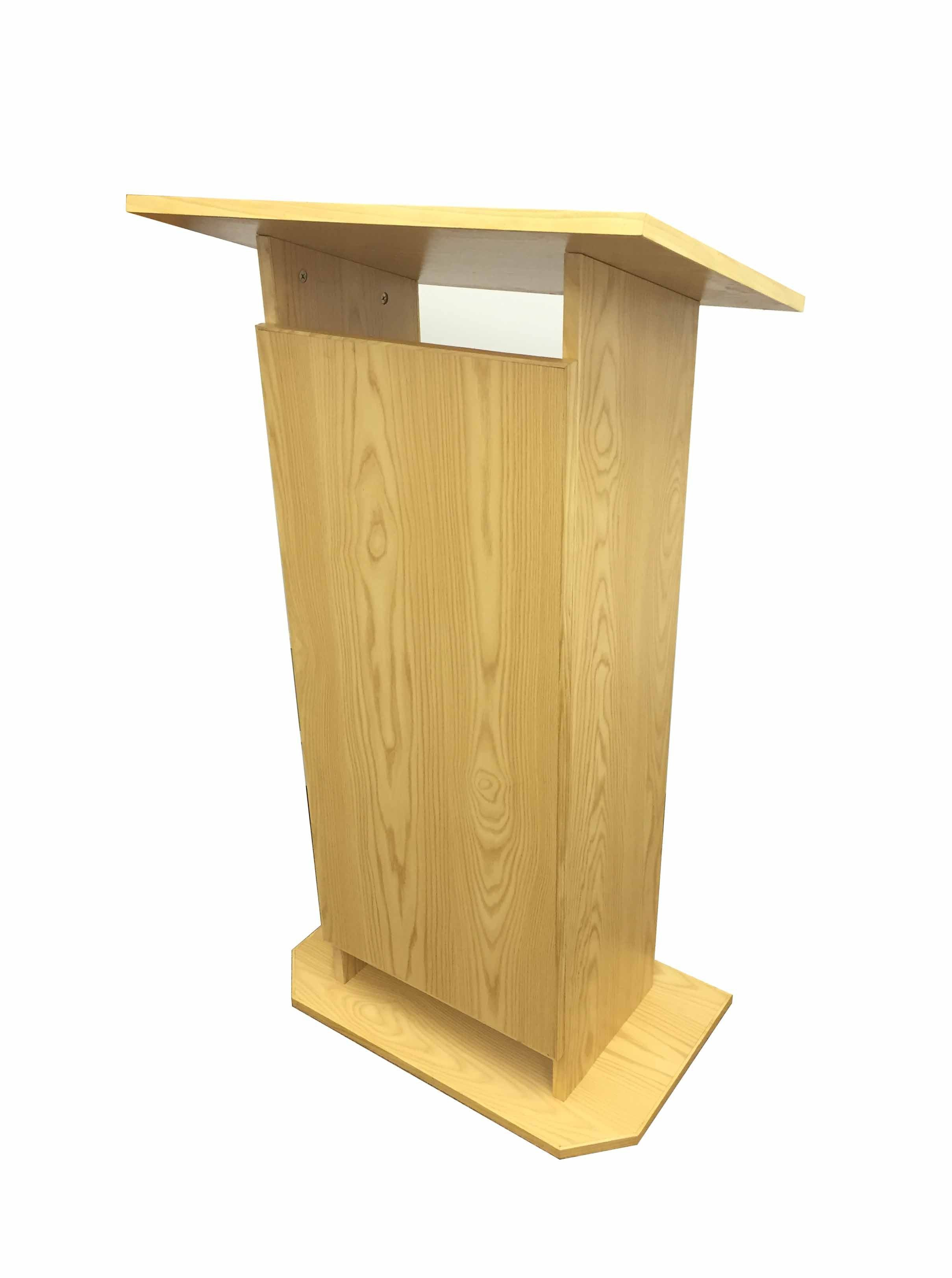 Wood Mdf Podium Pulpit Lectern Reception 14302 Golden Oak Wood Oak Laminate Lectern