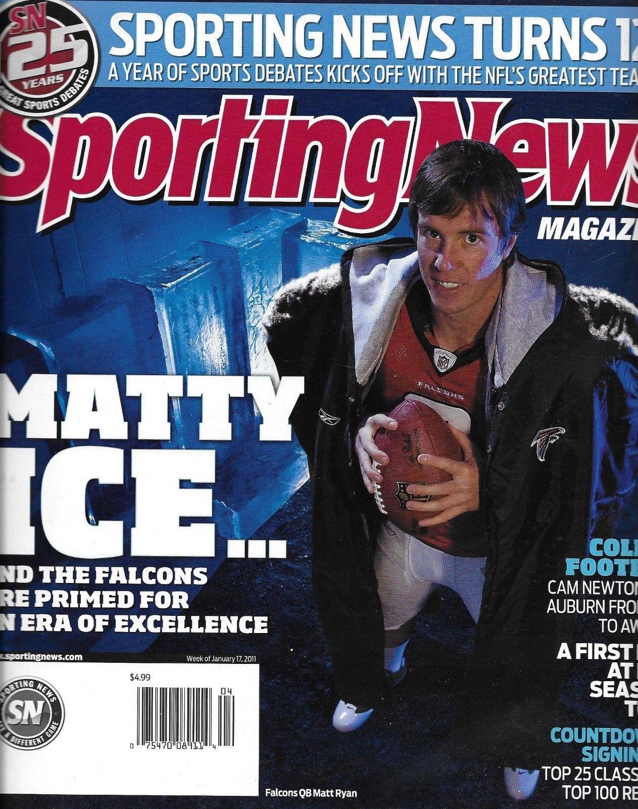 Sporting News Magazine Matt Ryan College Football Nhl Hockey Mid Season Report Sports News Sports News Magazines