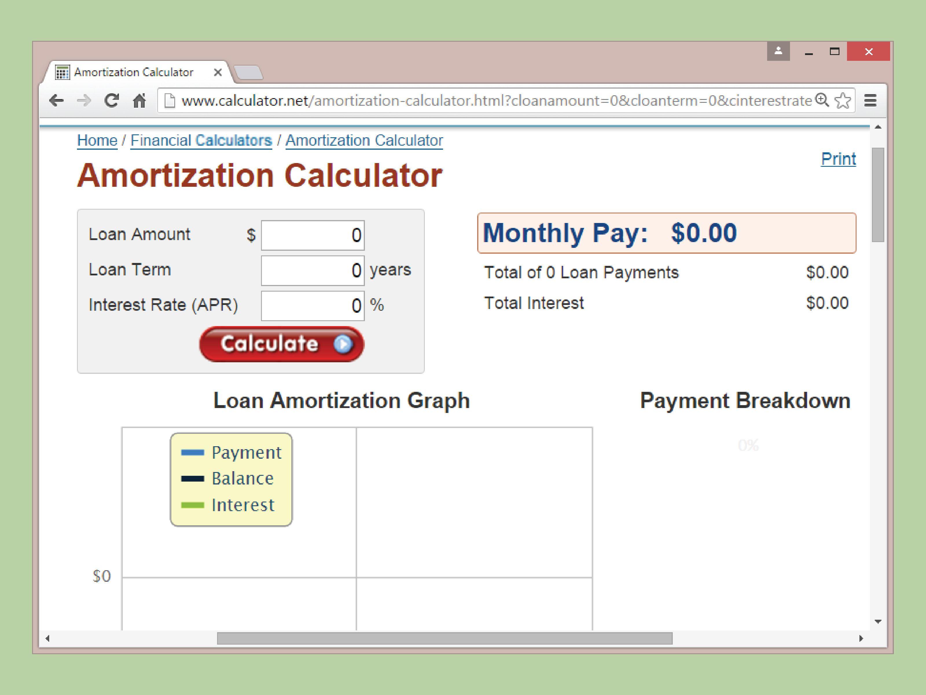 Calculate Amortization Amortization Schedule Amortization Chart