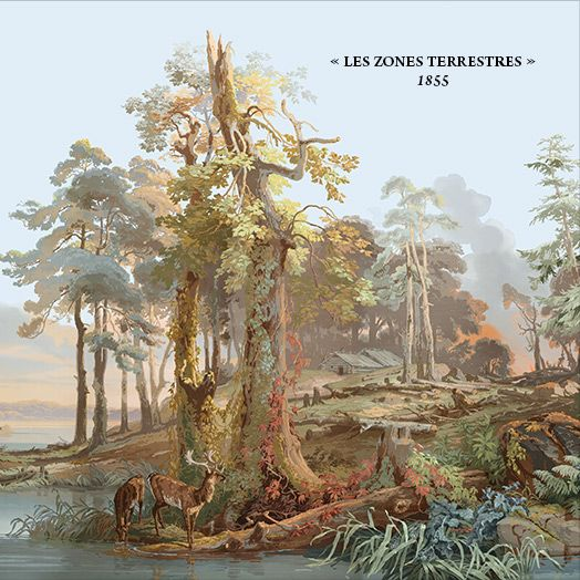 From fine wall papers les zones terrestres for Panoramique zuber papier peint