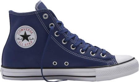 a25e03aa7b35 Converse Chuck Taylor All Star High Leather - Road Trip Blue Casino White  Casual Shoes