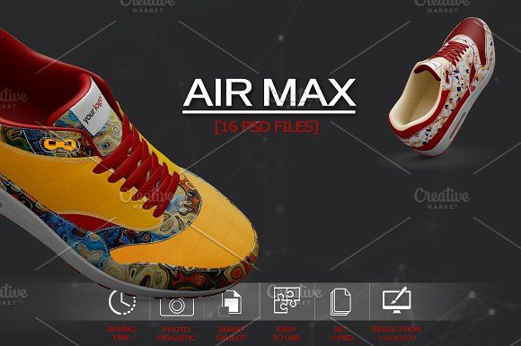 new product 2a622 f58e8 Nike Air Max Ultra 2.0 Mockup by PixelMockup on  creativemarket