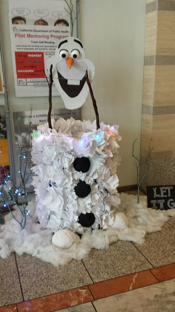 Toys For Tots Ideas : Olaf food donation barrel drive collection