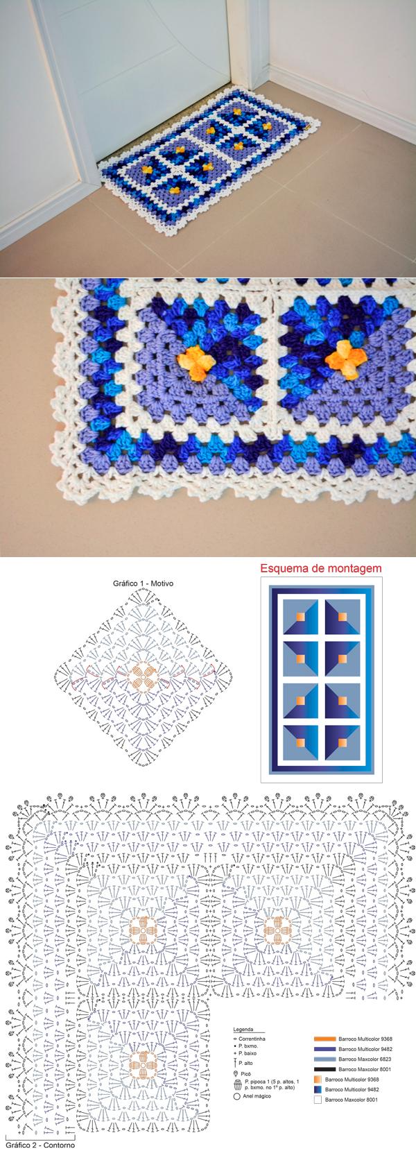 Tapete de Crochê Patchwork - Barroco Multicolor - Blog do Bazar ...