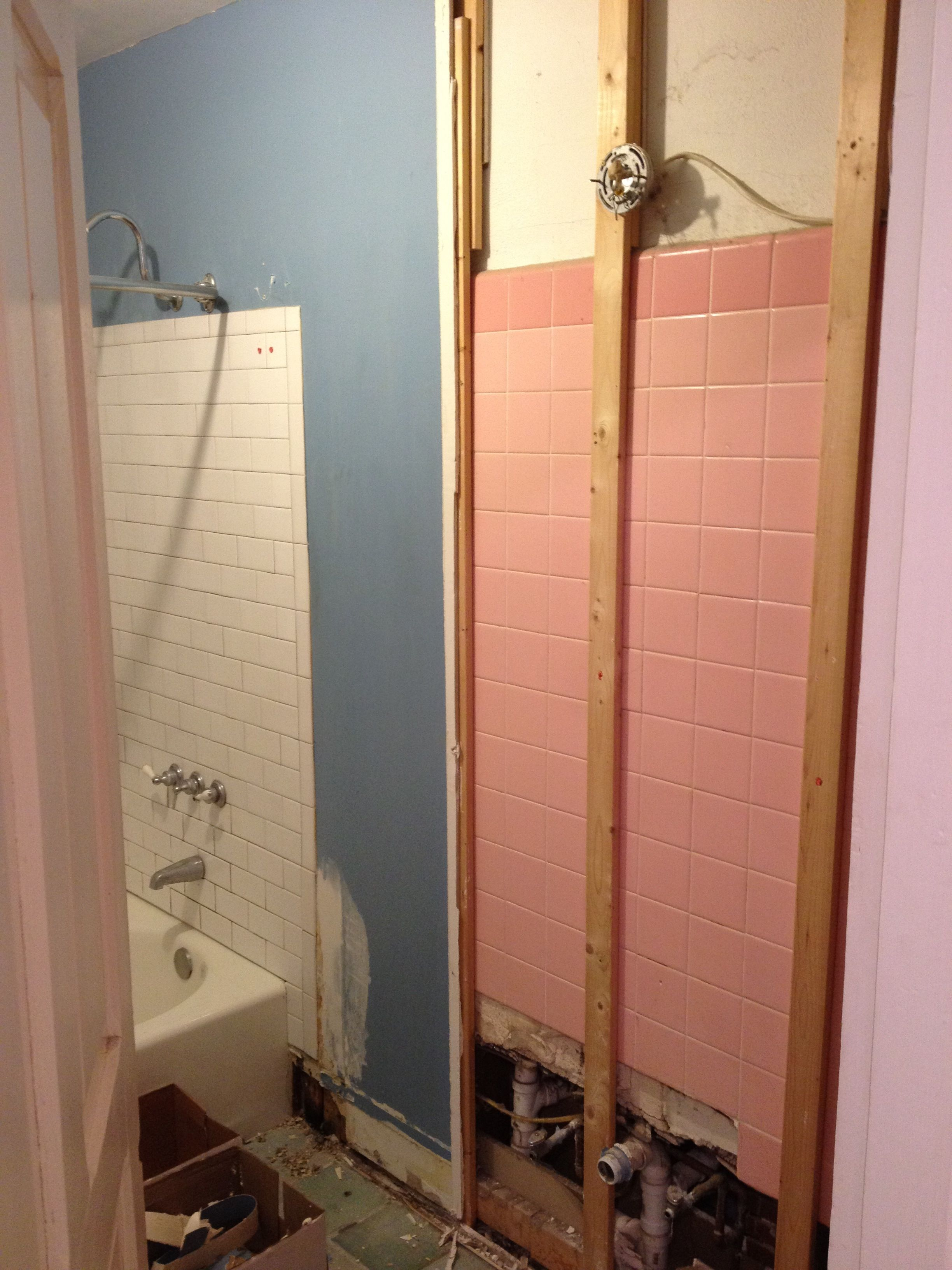 Twice The Work Half The Fun Diy Bathroom Remodel House And Bath - Gutting a bathroom