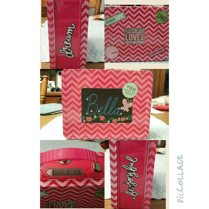 Pencil box is from the dollar spot at Target. I added the stickers and my daughter's name.
